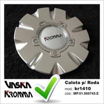 Calota Tampa Miolo Roda Original Kromma Kr1410 C/ Emblema