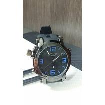 Relógio Masculino Esporte De Luxo Oakley Gearbox Preto Azul