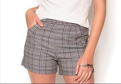 4dc9beaa9 Shorts Social Feminino Xadrez Short Curto Promoção Barato - R  39