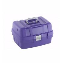 Maleta Para Maquiagem, Cabeleireiro Mega Bag Azul 715 Dompel