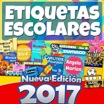 Kit Etiquetas Escolares Personalizadas Editables 5 Gb 2017