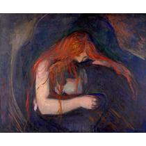 Lienzo Tela Vampiro 1895 Edvard Munch Post Impresionismo