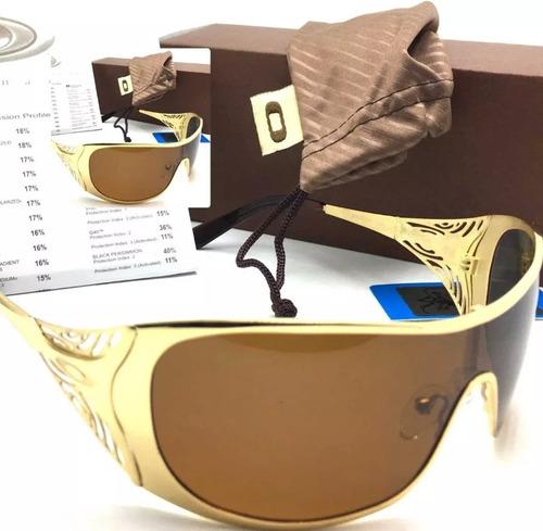 12ccbebcbdaa4 Óculos Oakley Liv Dourado 100% Polarizado Frete Grátis!!! - R  149 ...