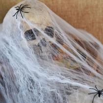 Kit Com 50 Teia De Aranha Decoração Halloween Homem Aranha