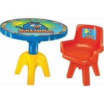 Conjunto De Mesa E Cadeira Galinha Pintadinha - Lider+frete