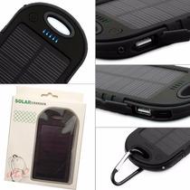 Bateria Portatil Solar 5000 Mah Generica Negra
