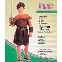 Traje Romano Del Soldado - Niños Guerrero Vestido De Lujo M