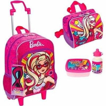 Mochila Barbie Super Princesa Rodinhas Sestini + Lancheira
