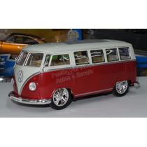 1:24 Volkswagen Bus Low Rider 1962 Rojo Welly Display
