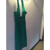 Vestido Verde De Algodón Talla M