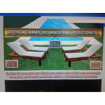 Camastro Reposera De Madera Lleva 2+1 Mesa De Regalo R.mejia