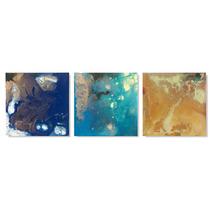 Quadros Decorativos Sala Abstratos Pinturas Trio Promoção