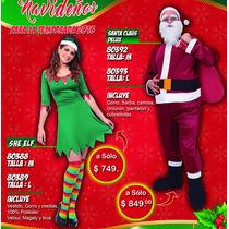 Disfraz De Santa Claus Y De Duende Para Hombre Y Mujer