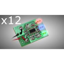 Kit Com 12 Voltímetros Digital Ajk Micro-volt