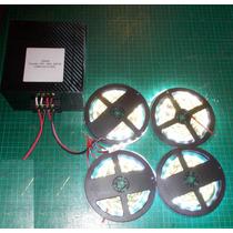 Kit 4 Cinta Led Alto Brillo 5630 + Transformador 12v 25a