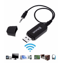 Receptor Auxiliar De Musica Bluetooth Usb 3.5mm De Audio