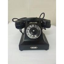 Telefone Antigo Dbk 1001 Ericsson Preto Da Década De 30