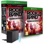 Jogo Game Rock Band 4 + Adaptador Guitarra Bateria Xbox One