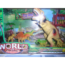 Gran Dinosaurio Con Sonido Y Luces