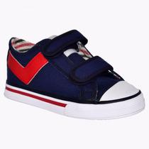 Zapatillas Pony Niño Low Cvs Ve Azul Rojo Py103169