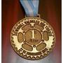 Medalla Llavero Trofeo Grabado Laser En Fibro Color Carrera