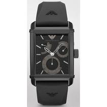 Relógio Luxo Empório Armani Ar4237 Orig Mec Autom Silicone!