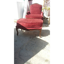 Sillon Frances Y Taburete Antiguo