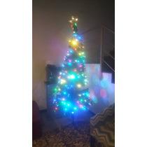 Arbol De Navidad Con Led Integrado, 2.20m De Altura