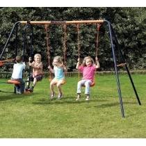Columpio De Acero Juego Hasta 4 Niños Juguetes Para Jardin