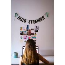 Guirnalda Con Glitter Hello Stranger Deco Goma Eva Hogar