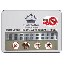 Ralo Linear / Grelha Pluvial 15x100 Com Tela Anti-inseto