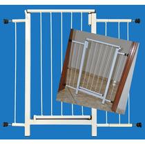 Portão Grade Proteção Porta Crianças Pets Cães 84 Cm A 89 Cm