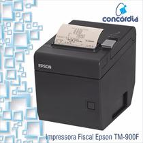Impressora Fiscal Tm-t900f Epson + Nota Fiscal + Lacre