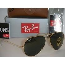 Óculos Rayban Aviador Clássico Rb3025 12x Sem Juros Promoção