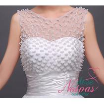 Vestido Noiva Debutante Princesa M Pérola Alça Pronta Entreg