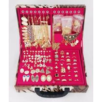 Atacado Kit 200 Pçs Semi-jóias Folheadas + Linda Maleta