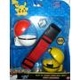 Set Pokemon Go Cinturon + 2 Muñecos + 2 Pokebolas Pikachu