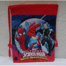 Fiesta Spiderman Hombre Araña Morral Como Dulcero