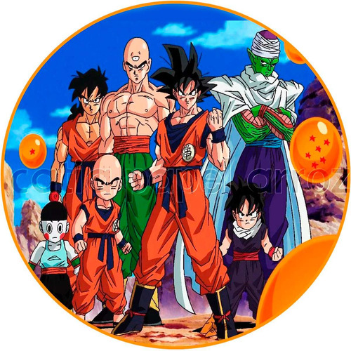 Dragon ball z papel de arroz redondo 20 cm bolo r 9 99 for Chambre dragon ball z
