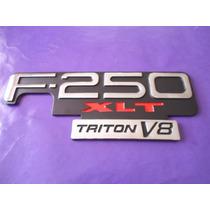 Emblema F-250 Xlt Triton V8 Ford Camioneta
