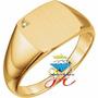 Sortija De Hombre En Oro Fino 18k Brillantefino Mod 4 Oferta