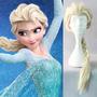 Peruca Infantil Trança Frozen Princesa Elsa Fantasia