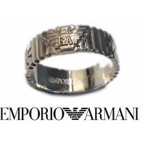 Anillo Emporio Armani Plata 925 Argolla Greco Giorgio