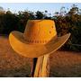 Chapeu Masculino Country Boiadeiro Cowboy Americano Em Couro