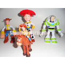 Toy Story Set Woody, Buzz Lightyear, Jessie, Tiro Al Blanco