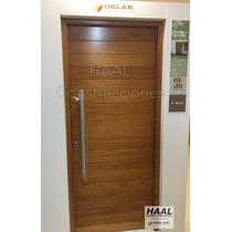 Abertura Puerta Exterior Madera Oblak Grandis Mod-2331 80cm