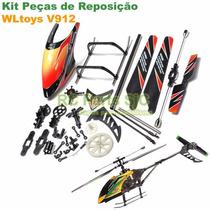 Kit Peças De Reposição Para Helicóptero Wltoys V912