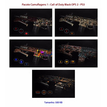Kit 1: Camuflagens Call Of Duty Black Ops 2 - Psn Codigo Ps3