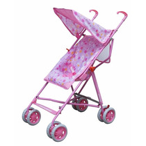Carrinho De Bebe Bebelove Single Umbrella Stroller Rosa Flor
