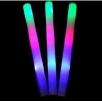 15 Barras Goma Espuma Luminosa Led Rompecoco Multicolor Y...